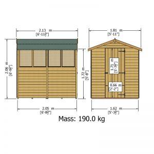 7x5_single_door_line_dwg